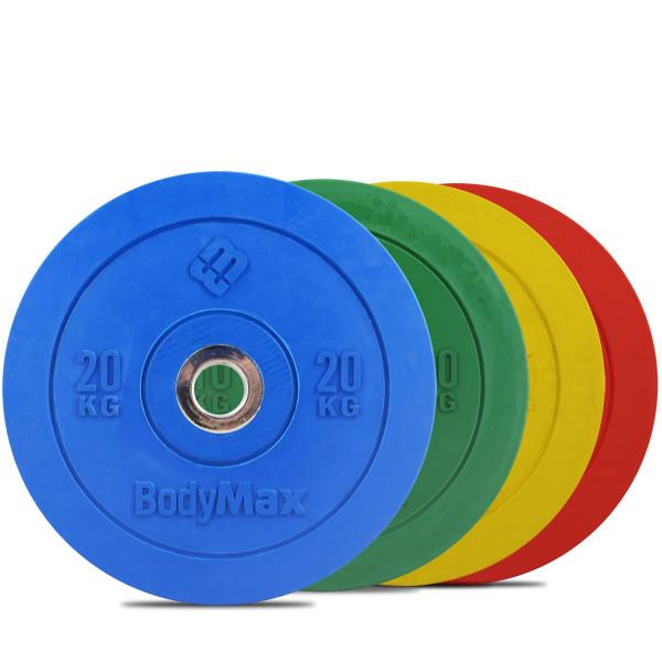 coloured bumper plates