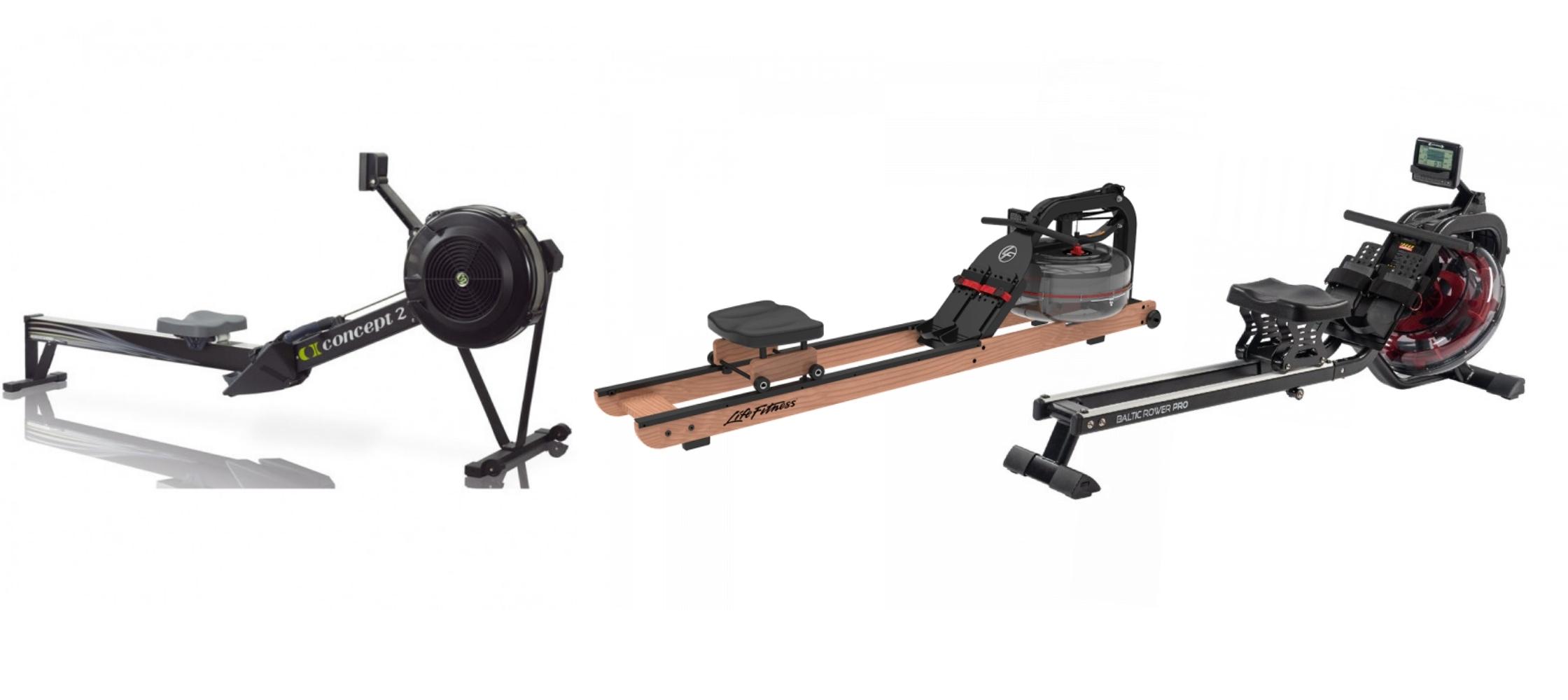rowing machines rails