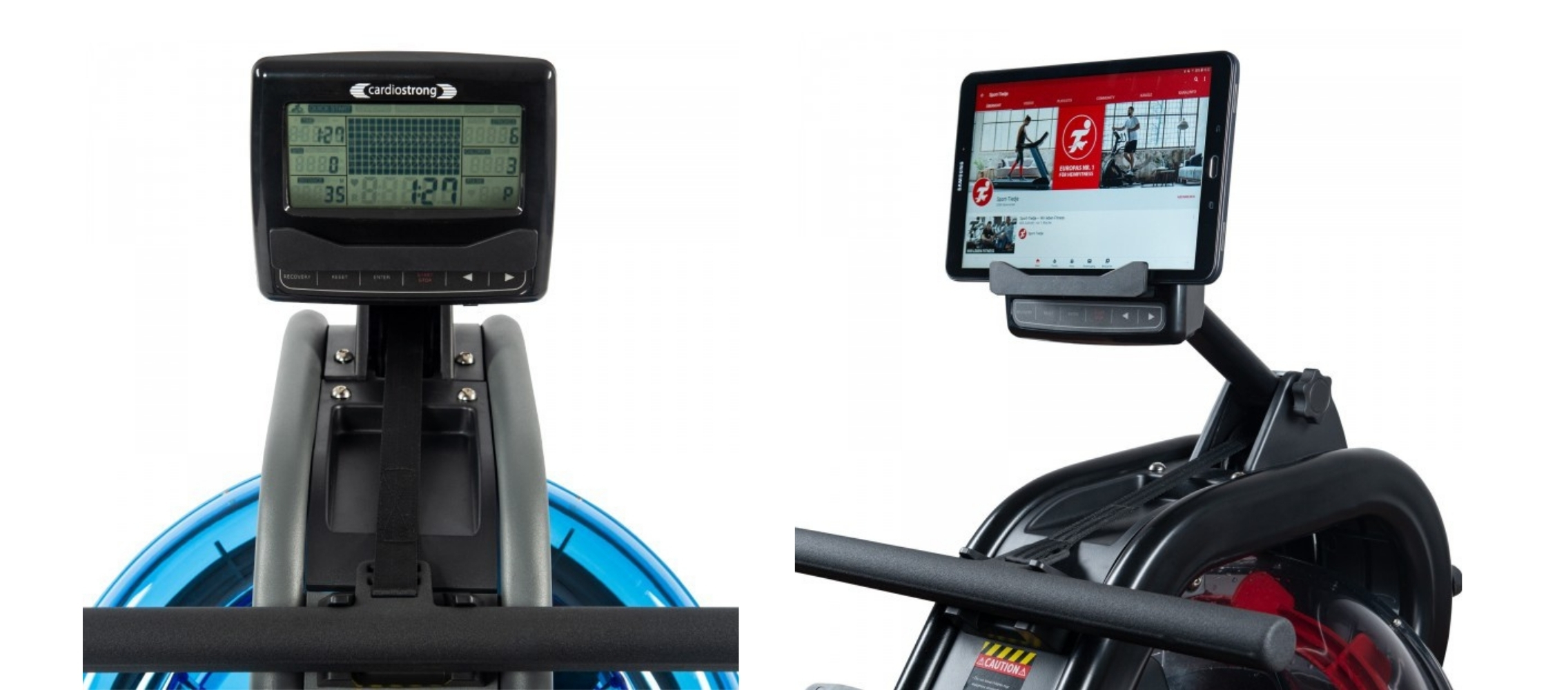 console in rowing machines