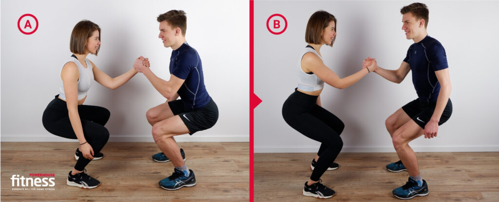 Valentine's workout for couples - front squat