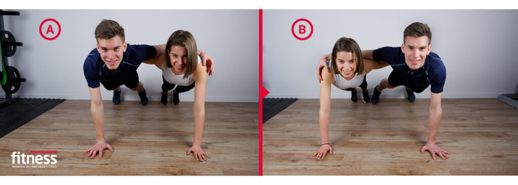 Valentine's workout for couples - hand plank