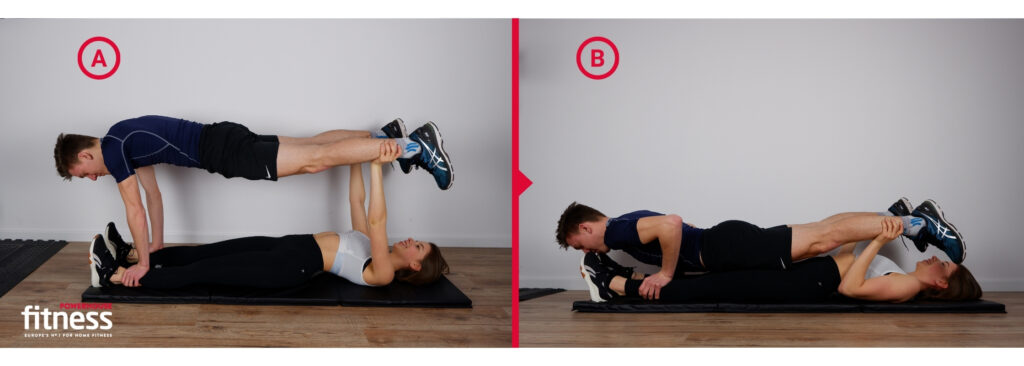 Valentine's workout for couples - double push up